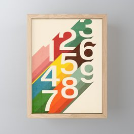 Retro Numbers Framed Mini Art Print
