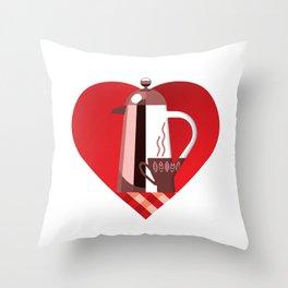 i like coffee Throw Pillow