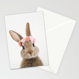 Rabbit with Flower Crown Stationery Cards