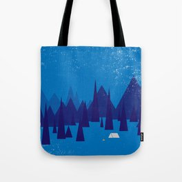 Sleeping in the blue mountains under a blanket of snow Tote Bag