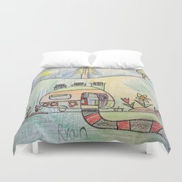 Camping in Style! Duvet Cover