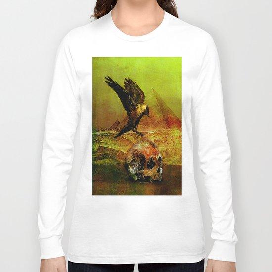 The crow of Egyptian plains Long Sleeve T-shirt