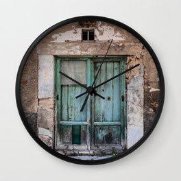 Green Door II Wall Clock