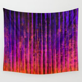 Syntax (Purple + Orange) Wall Tapestry