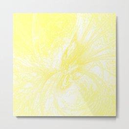 Splatter in Lemonade Metal Print