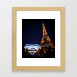Eiffel Carousel Framed Art Print