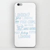 snatch iPhone & iPod Skins featuring snatch quote blue by Jordan Coombes