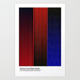 Carlos Cruz-Diez Fanfic Art Print