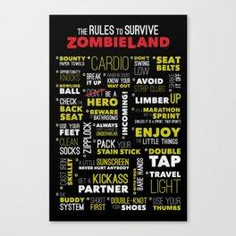Surviving Zombieland Canvas Print
