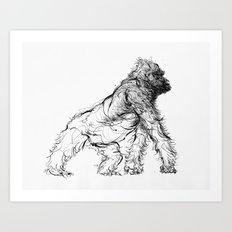 gorilla_002 Art Print