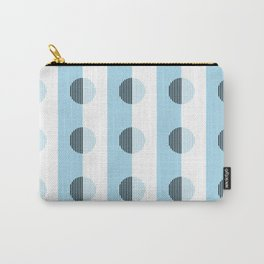 Horizons Geometric Sea Breeze Waterfall Design 9 - Turquoise Blue Carry-All Pouch