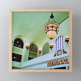 Terminal Framed Mini Art Print
