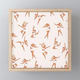 Dance Girl Pattern 002 Framed Mini Art Print