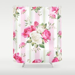 Belle époque flower power Shower Curtain