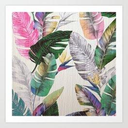 TROPICAL PLANTS1 Art Print