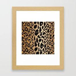 Leopard Print Linen Framed Art Print