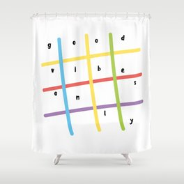 Good vibes only, colorful lines Shower Curtain