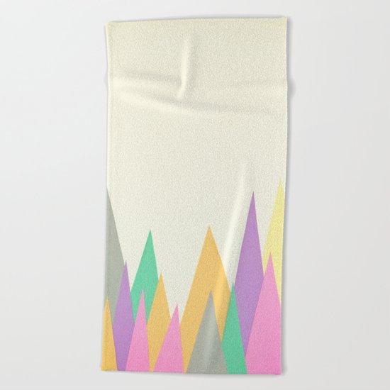 Pastel Peaks Beach Towel