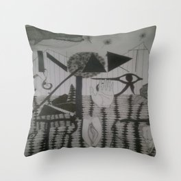 In art I trust Throw Pillow