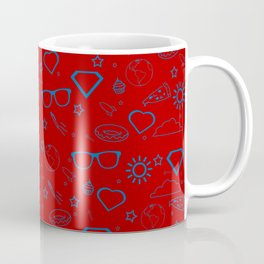 Supergirl/Kara's pattern - blue Coffee Mug