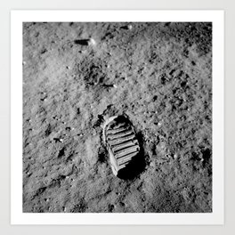 Bootprint On The Moon - Apollo 11 - 1969 Art Print