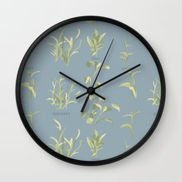 Rosemary, Sage, and Nettle. In Blue Wall Clock