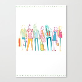 Forever Queueing  Canvas Print