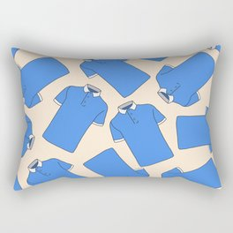 Shopping Blue Poloshirts Rectangular Pillow