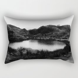 Fairy Glen, Isle of Skye, B/W Rectangular Pillow