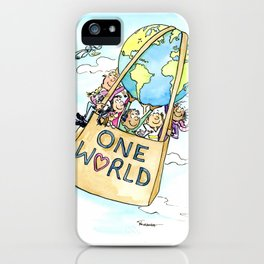 One World Together Eco Art iPhone Case