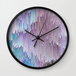 Cold Glitches Wall Clock