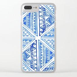 Geo tile art Clear iPhone Case