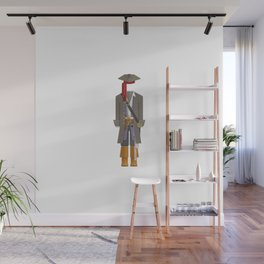 Caribbean Captain/Pirate Outfit Minimal Sticker Wall Mural
