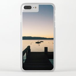 Sunset on Tahoe Pier 1 Clear iPhone Case