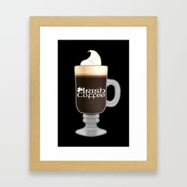 Irish Coffee Framed Art Print