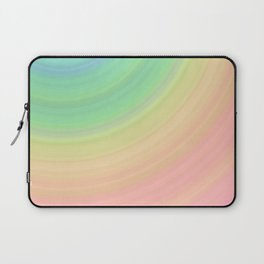 Abstract Pastel Rainbow I Cute abstract circles, gradient pattern Laptop Sleeve