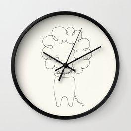 Love Yourself Lion Wall Clock