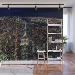 Empire State Building NYC Skyline Landscape Painting by Jeanpaul Ferro Wall Mural