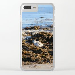 At the beach 8 Clear iPhone Case