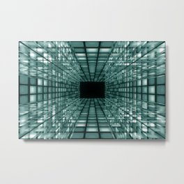 abstract perspective background Metal Print