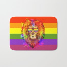 Rainbow Lion Pride Bath Mat
