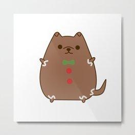 Cute Christmas Gingerbread Pupsheen Metal Print