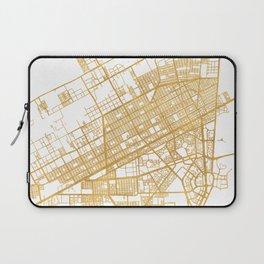 CANCUN MEXICO CITY STREET MAP ART Laptop Sleeve