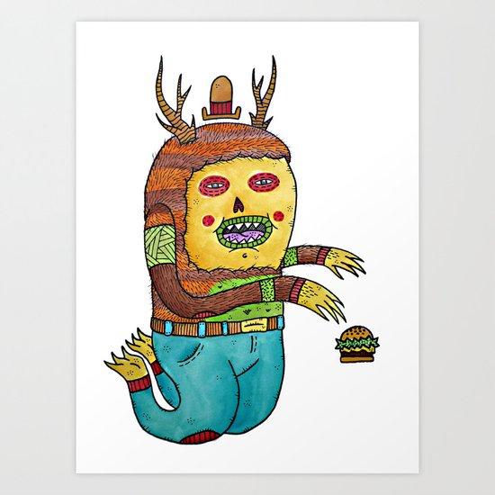 Burger time. Art Print