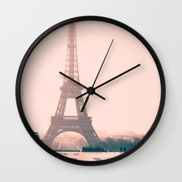 Eiffel tower in the early morning Wall Clock