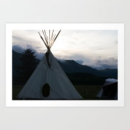 Teepee Campout Art Print