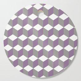 Diamond Repeating Pattern In Crocus Purple and Grey Cutting Board