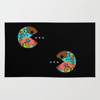 80s Area & Throw Rugs featuring Pac-80s by Skorretto