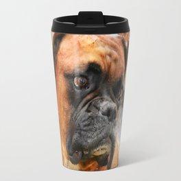 Boxer Dog Thinking Travel Mug