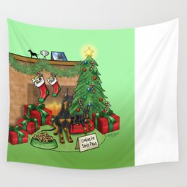 Manchester Terrier Christmas Wall Tapestry